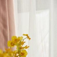 Однотонная хлопковая льняная занавеска для окна простая Крестовая хлопчатобумажная пряжа для спальни гостиной сетчатая занавеска s белая марлевая занавеска готовая P