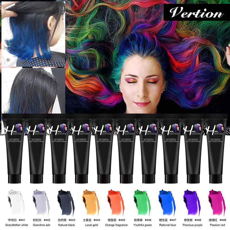 Verntion Fashion Unisex Molding Paste Hair Color Dye Wax DIY Hair  Paint Wax Easy To Wash Color Wax Hair Colour Cream Hair Dye