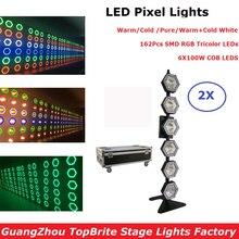 2XLot Free Shipping 6X100W Warm White/Cold White LED Pixel Light DMX Led Bar Line Wash Stage With 162Pcs SMD LEDS