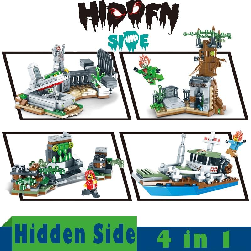 Hidden Side 4 In 1 Ideas Model Building Blocks Bricks Sets Kids Toys For Children Gifts Friends  Technic Ghost