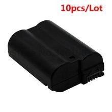 10 Stks/partij EN-EL15 Batterij En EL15 ENEL15 Camera Batterijen Pack Voor Nikon D600 D610 D600E D800 D800E D810 D7000 7100 d75