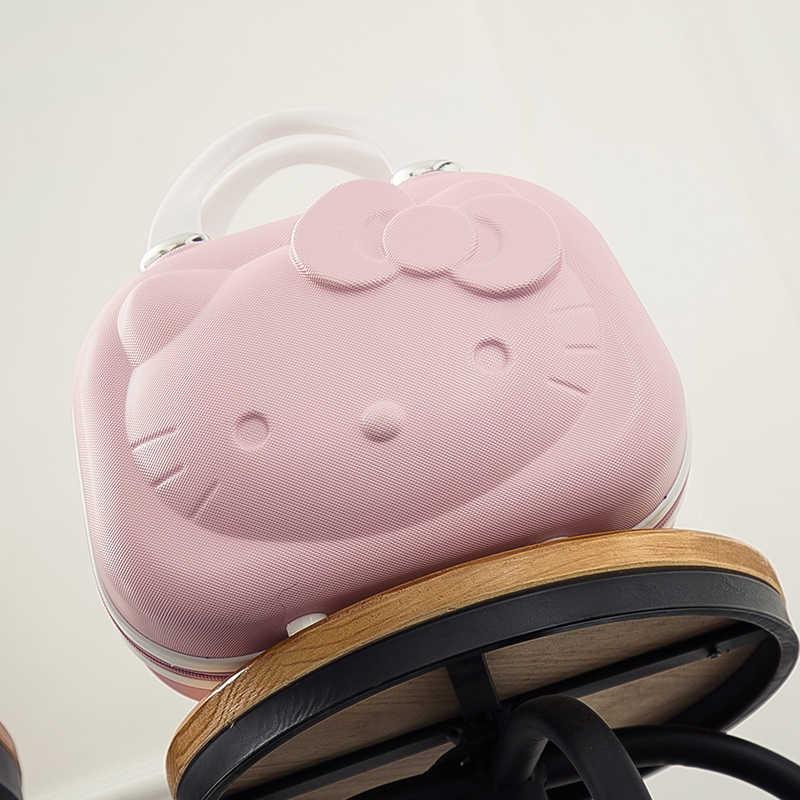 14Inch Hello Kitty Cosmetische Case Box Makeup Case Bag Organizer Cartoon Hellokitty Reizen Koffer Bagage Opbergtas