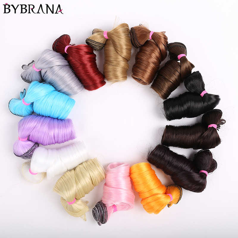 Bybrana long curly hair 30cm*100cm and 15cm*100cm bjd DIY wig for dolls free shipping