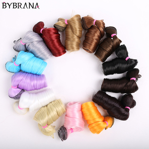 Bybrana long curly hair 30cm*100cm and 15cm*100cm bjd DIY wig for dolls free shipping(China)
