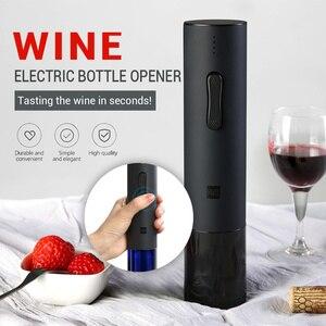 Image 1 - Flesopener Huohou Automatische Wijn Fles Kit Elektrische Kurkentrekker Wijn Opener Bar Gereedschap Fles Geopend Dropshipping