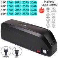 Batteria per bicicletta elettrica Hailong 36V 48V 52V USB 18650 BBS02 BBS03 BBSHD 17Ah 20ah 30Ah 500W 750W 1000W 1500W batteria per Scooter