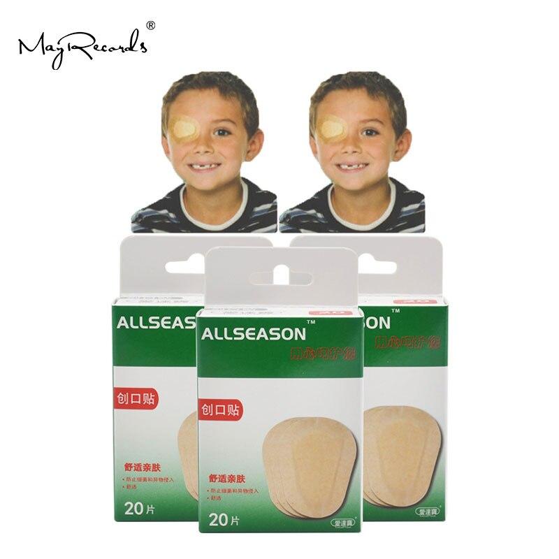O envio gratuito de 60 pces/3 caixas 5.8x8.2 cm respirável olho remendo banda aid médico estéril olho almofada adesivo ataduras kit primeiros socorros