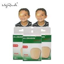 O envio gratuito de 60 pces/3 caixas 5.8x8.2cm remendo para os olhos respirável banda aid médica estéril almofada de olho adesivo ataduras kit primeiros socorros