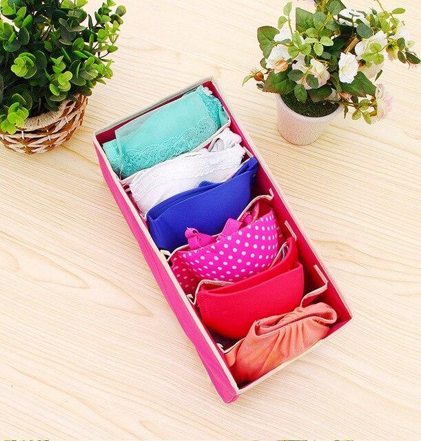 Underwear Storage Organizer Box for Socks Scarf Bra Grid Foldable Wardrobe Drawer 3