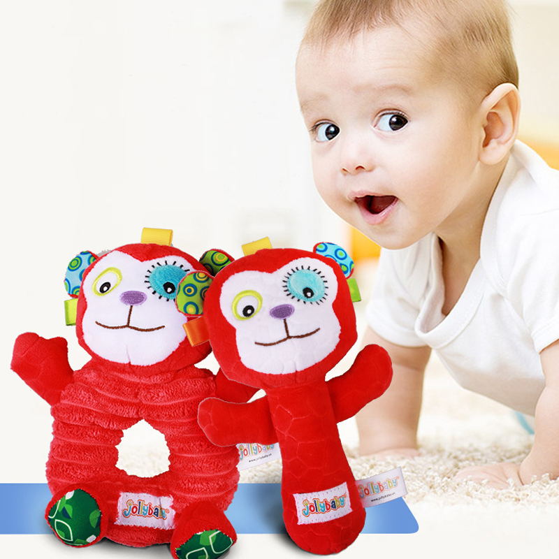 Baby Toys Baby Hand Grip Rod Toys Educational Toys Rattle Animal BB Stick Hand Bell Toy Baby Children Gifts