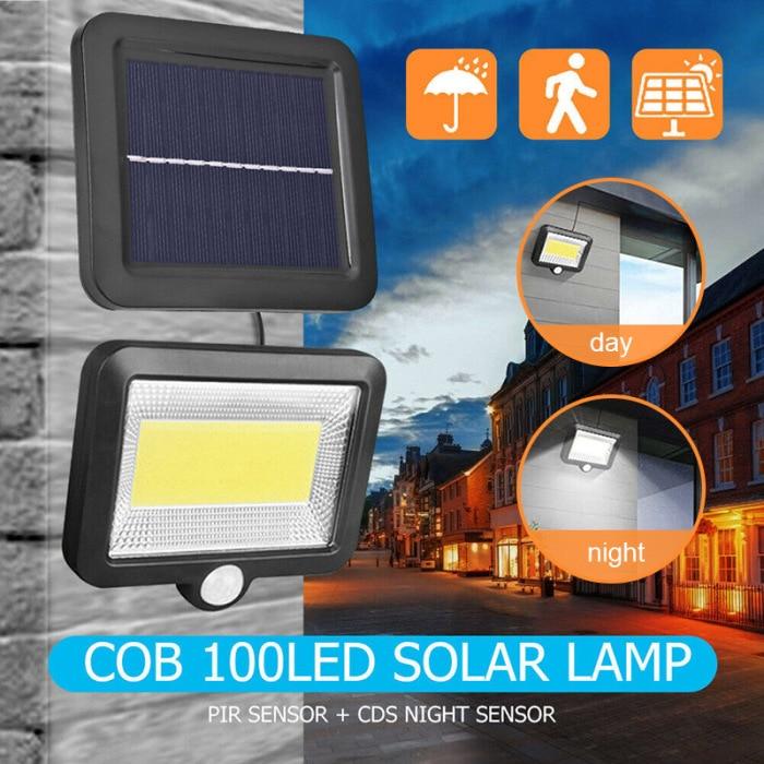 100 led de energia solar sensor de