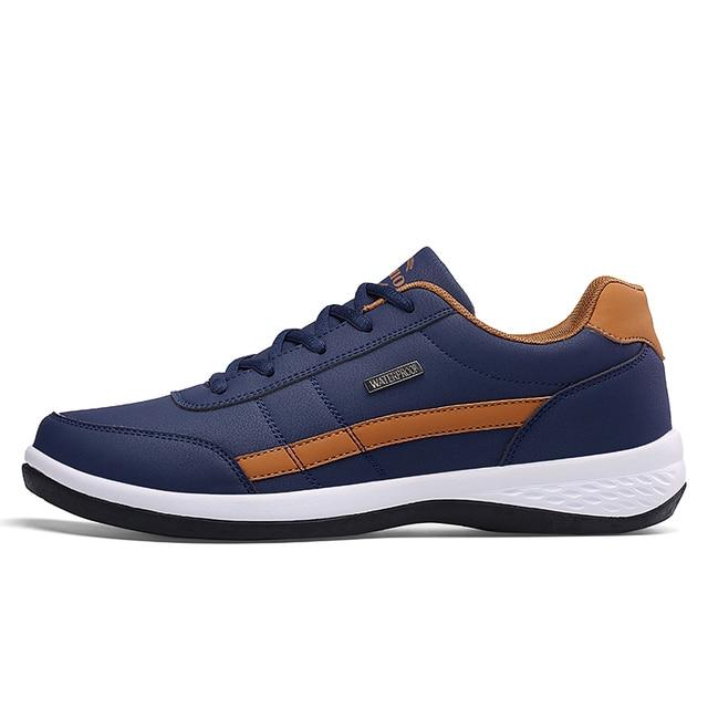 Leather Men Shoes Sneakers Trend Casual Shoe Italian Breathable Leisure Male Sneakers Non-slip Footwear Men Vulcanized Shoes 2