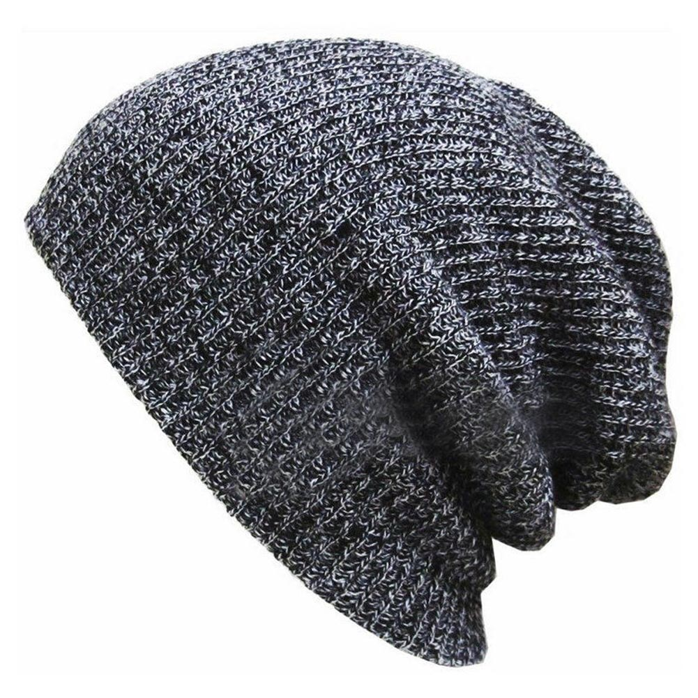 Hot Sale 2019 Unisex Knit Cotton Blend Winter Hat Outdoor Slouchy Solid Color Knitted Cap Bomber Hats IE998