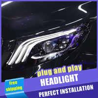 2PCS Auto Stil LED scheinwerfer für benz Vito 2016-2019 für Vito kopf lampe LED DRL Objektiv Doppel strahl H7 HID-Xenon-bi-xenon-objektiv