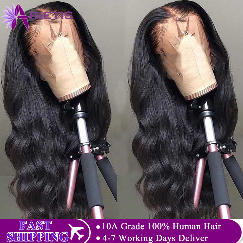 Lace Front Human Hair Wigs Transparent HD 360 Lace Frontal Wig 150% Density Lace Front Wig Remy 13x4 Brazilian Body Wave Wig