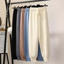 Женские брюки на завязках с эластичной резинкой талии плотные
