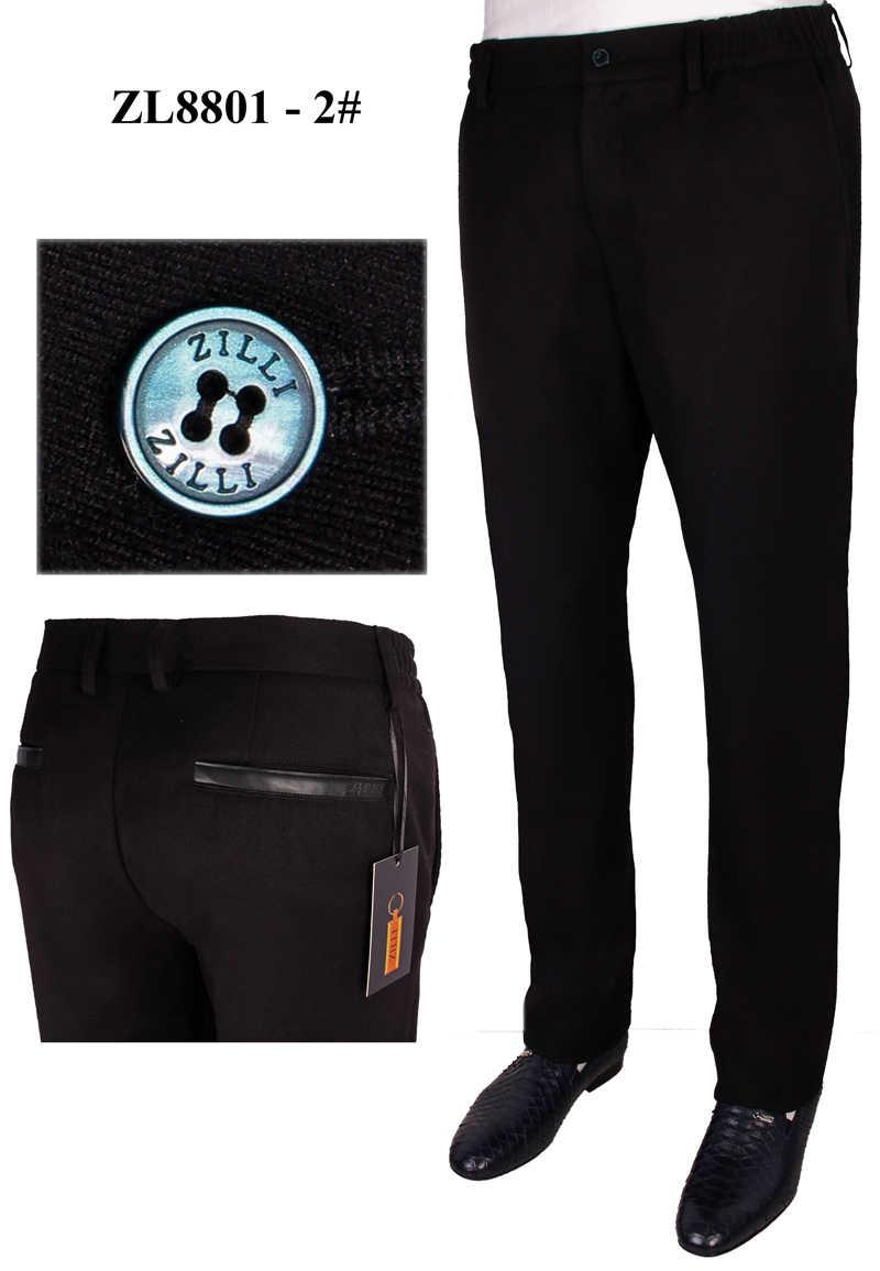 BILLIONAIRE брюки из воловьей кожи мужские 2019 зимние новые толстые деловые Повседневные Удобные Модные с вышивкой высокого качества Бесплатная доставка