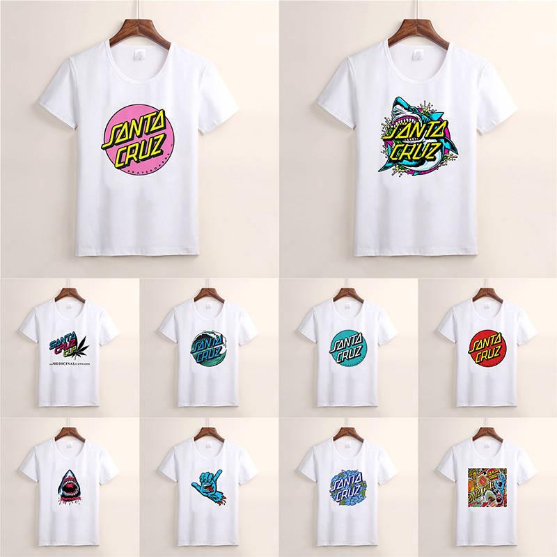 Santa Cruz Marmeid Dot Skateboard T Shirts Harajuku Summer Boyfriend Gift Shirt Fashion Top Short Sleeve Cool Male Clothes TX87