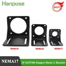 Free shipping 1pcs stepper motor NEMA17 NEMA23 NEMA34 for 42 57 86 stepper motor Mounting L Bracket Mount housing