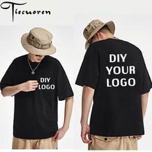 Wholesale customized logo Print T shirts half sleeve homme t