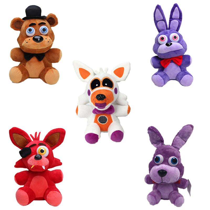 25cm Nightmare FNAF Game Five Nights At Freddy's Sister Location Red Foxy Golden Shadow Freddy Bear Plush Doll Toys Kids Gift