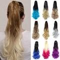 Хвостик волос синтетические хвостики для прически поддельные накладные волосы коготь на конский хвост, накладные волосы на заколке для Для...