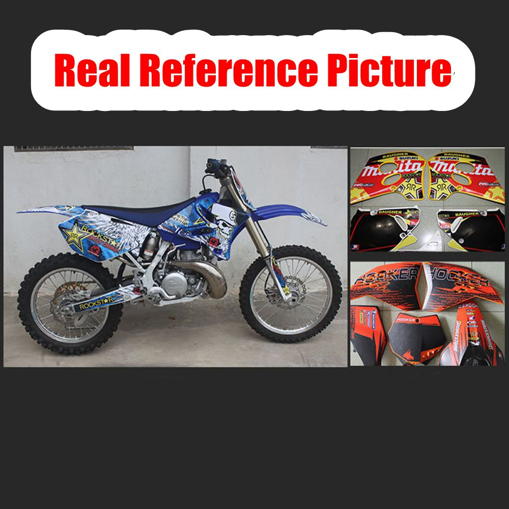 CR 125 CR 250 motocross graphic kit decals CR250 CR125 2002-2012 MX decor Honda