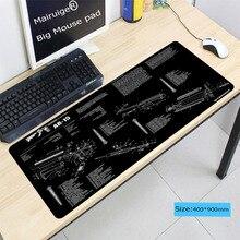 Mairuige 900*400*5 мм игровой коврик для мыши с запирающимся краем большой коврик для мыши ПК компьютер ноутбук коврик для мыши для CS GO Dota 2 Lol