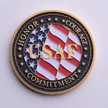 Позолоченные монеты США ВМФ ВВС США морской пехоты США Армия береговая охрана-Американский свободный орел Тотем военная медаль проблему коллекции