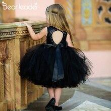 Bear leader/платья для девочек; Летнее Детское платье принцессы с круглым вырезом; бальное платье; детская одежда с открытой спиной; Детский костюм для маленьких девочек