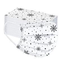 50pc natal impresso máscara adulto descartável respirável earloops boca máscara facial não-tecido meltblown máscara protetora elástica