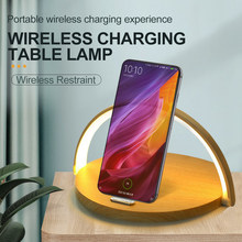 3 In 1 Night Light Qi Wireless Charger Table Lamp Fast Charging Holder Home Night Light Pad Stand for iPhone Huawei Xiaomi Redmi