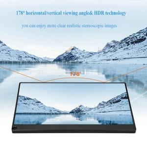 Image 2 - Eyoyo EM15K HDMI USB نوع C شاشة محمولة 1920x1080 FHD HDR IPS 15.6 بوصة شاشة LED مراقب لأجهزة الكمبيوتر PS4 Xbox الهاتف المحمول