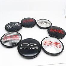 4 sztuk 63mm osłony piasty dla OZ Racing WRC felgi piasty pokrywa wymiana M595 samochód stylowy emblemat 57MM czarny