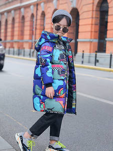Jacket Coat Parkas Kids Clothes Teenagers Graffiti Boys Winter Long Camouflage New-Brand