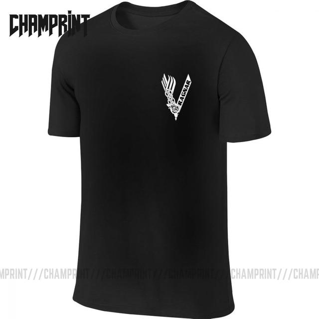 Viking Ragnar Symbol Zwei Seiten T-Shirts Männer Baumwolle T Kurzarm Front und Zurück T Hemd Neue Ankunft Tops