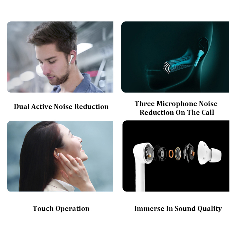 """""""Ultimate DealHuawei Magic Earbuds Earphone Honor Flypods TWS Bluetooth 5.0 Wireless 3 Touch-Sensor‰"""