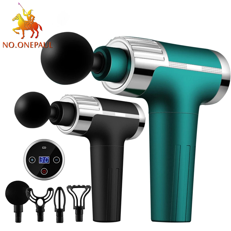 Massage-Gun Percussion Deep-Tissue Back Fitness Body-Relaxation Whole-Body LCD