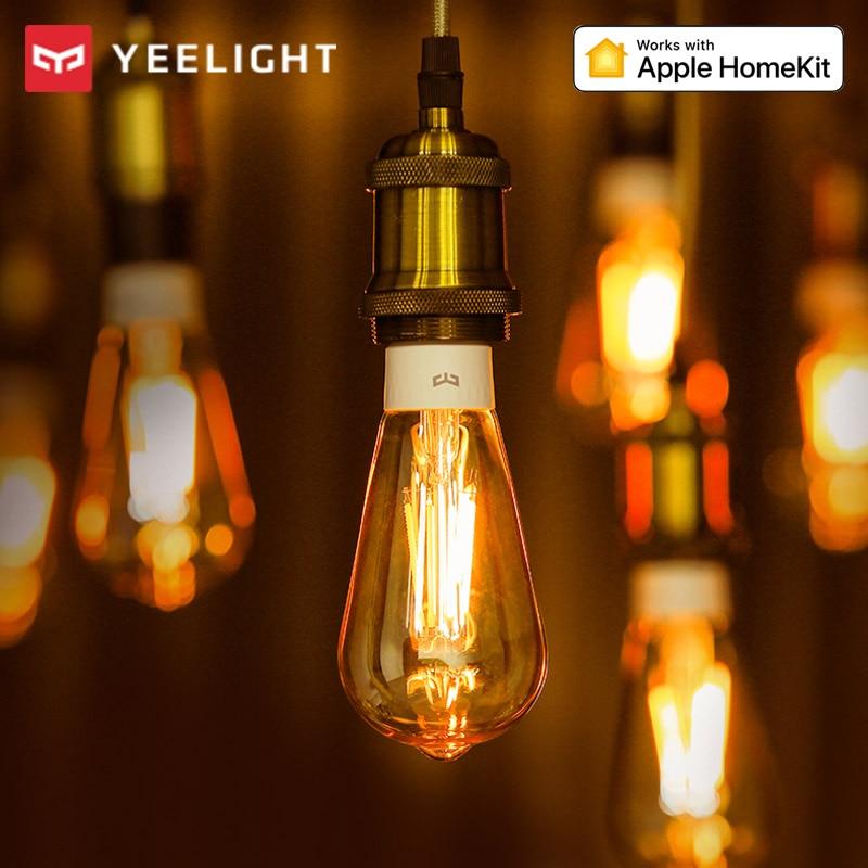 Yeelight Smart LED Filament Bulb 2020 E27 500lm 6W 220V Dimmable WiFi Smart Warm Light App Control Work with Homekit Google Home
