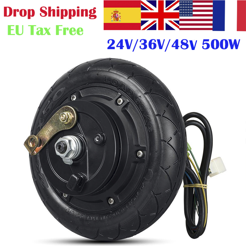 24V 36V 48V 350W 500W Hub <font><b>Motor</b></font> <font><b>Scooter</b></font> Brushless Toothless <font><b>Electric</b></font> <font><b>Scooter</b></font> Hub <font><b>Wheel</b></font> <font><b>Motor</b></font> 8 Inch image