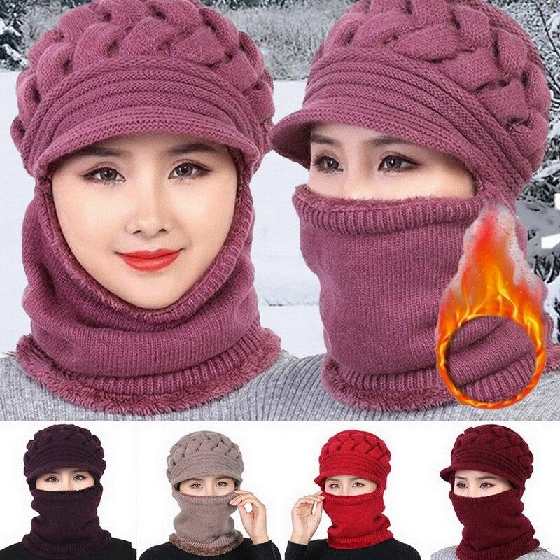 Коралловая флисовая зимняя шапка бини женская шапка шарф теплая дышащая шерстяная вязаная шапка для женщин двухслойные защитные шапки Мужская Skullies & шапочки      АлиЭкспресс