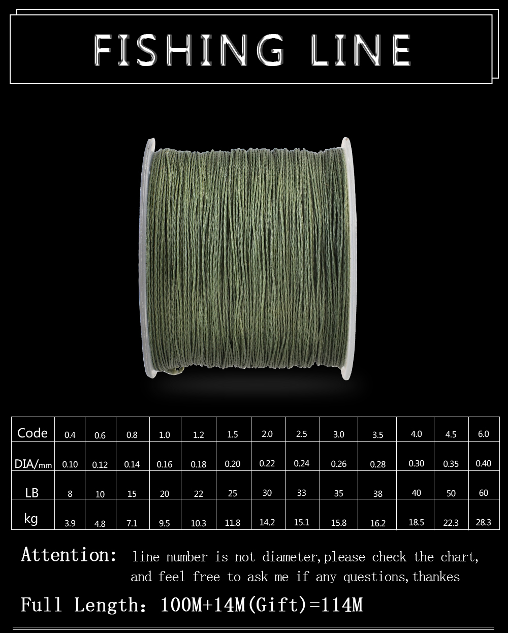 FTK braided fishing line