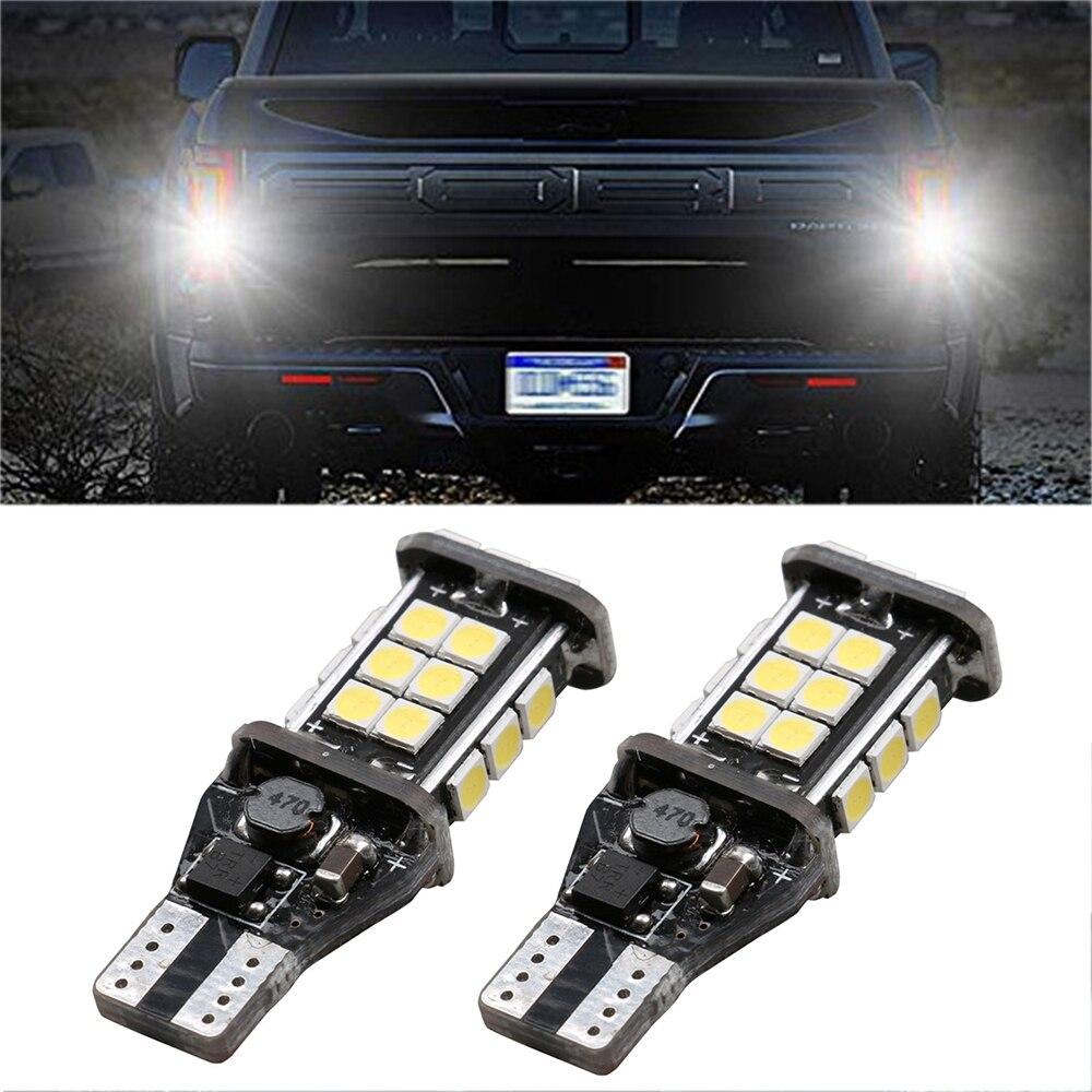 2PCS 1200Lm T15 W16W Super Bright 3030 24SMD CANBUS Car Backup Reserve Lights Bulb Tail Lamp Xenon White