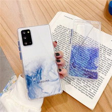 Transparent Marble Phone Case For Samsung Galaxy S21 Plus S20 FE 5G Note 20 Ultra A11 A12 A21s A31 A32 A51 A52 A71 A72 5G Cover