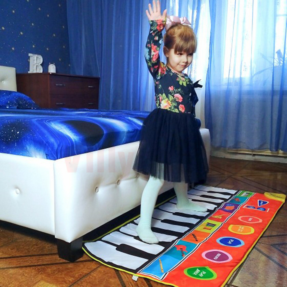 H3befa8f6361841a3aaf1151ec82d9586h Large Size Musical Mat Baby Play Piano Mat Keyboard Toy Music Instrument Game Carpet Music Toys Educational Toys for Kid Gifts