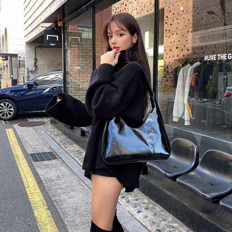 2020 New Women Leather Bag Luxury Handbags Women Bags Designer Bags Patent Leather Bucket Bag Women Bags Shoulder Tote Bags