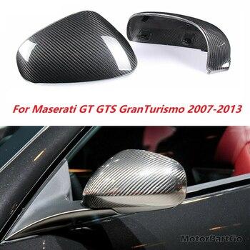 Real DRY Crabon Fiber Mirror Cover Exchange original 1 pair for Maserati GT Sport GC Gran Cabrio Quattroporte 2007-2013 1