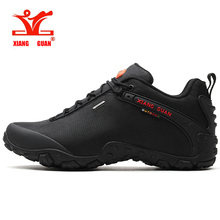 XIANG GUAN Men Hiking Shoes Women Low Top Trekking Sneakers Black Outdoor Jogging Trainers Climbing & Fishing Shoes цена и фото