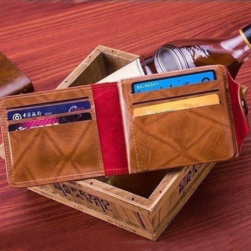 Erkek cüzdan 100 abd doları desen cüzdan erkek deri cüzdan fotoğraf kart tutucu