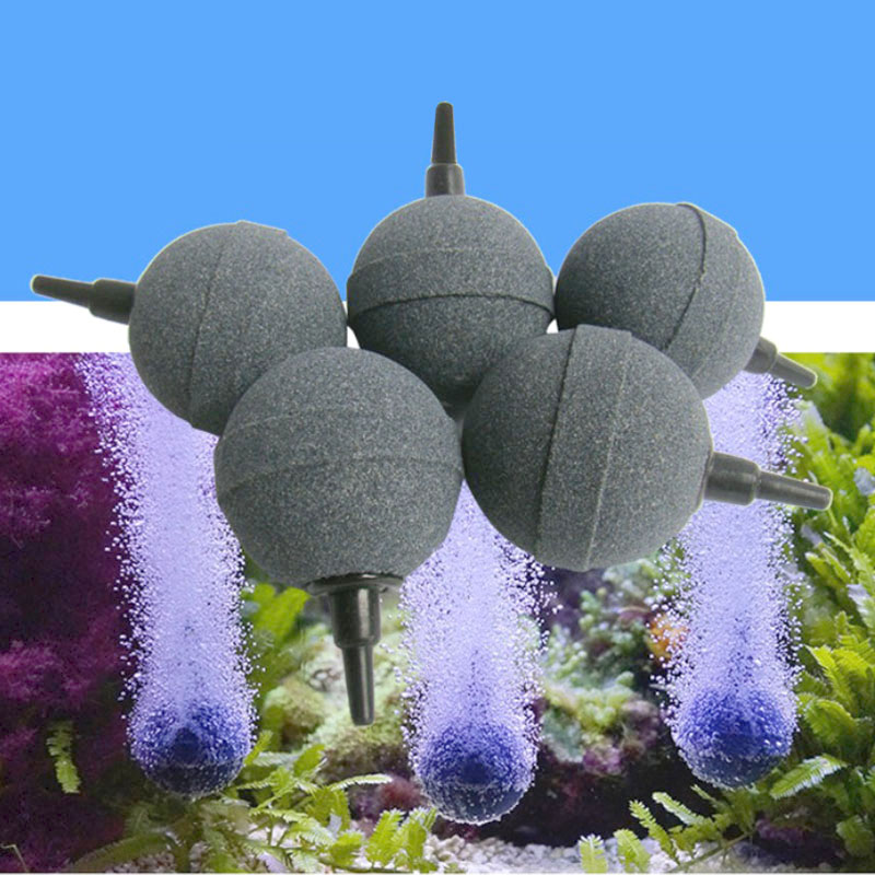 1PC Bubble Stone Aerator For Aquarium Fish Tank Pump Hydroponic Oxygen Plate Round Stone Mini Acuario Accesorio 2cm/3cm/4cm/5cm